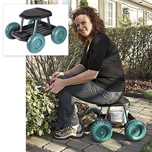 ROLLING GARDEN WORK SEAT. Take The Back Pain Out Of Gardening And Home  Chores!