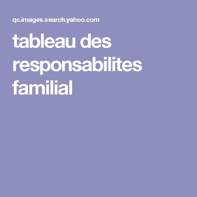 tableau des responsabilites familial