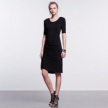 Women's Simply Vera Vera Wang Simply Noir Ruched T-Shirt Dress