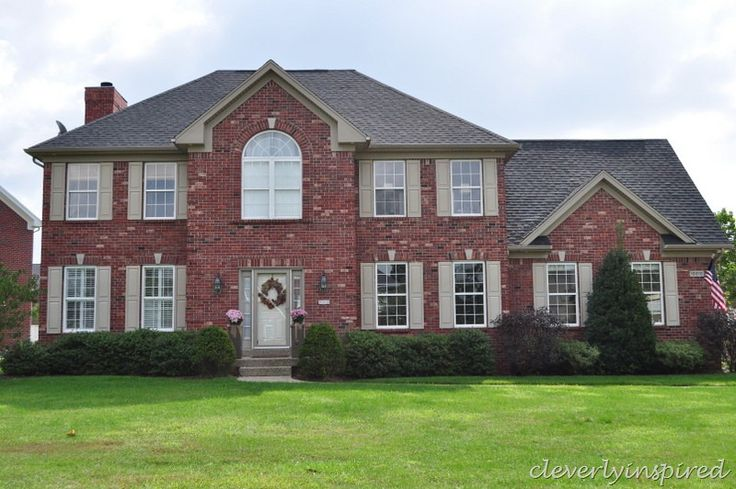 mahogany shutters on red brick house | Painted Brick Houses: Our inspiration ideas