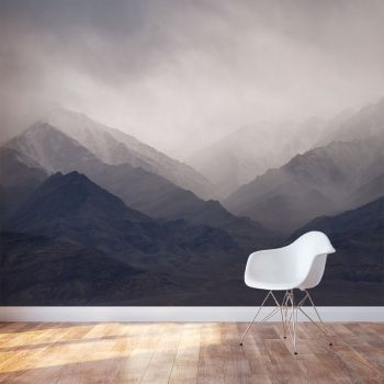 Misty Mountains Wall Mural this only abstracted but same