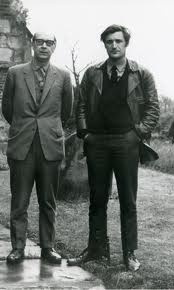 Philip Larkin & Ted Hughes. Everything about this photo pretty much sums them up.