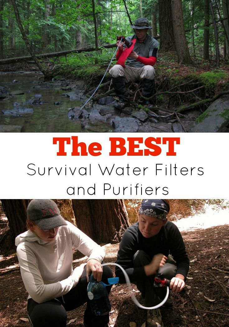 Best Survival Water Filters and Purifiers. If you are in a survival situation, the last thing you want to do is drink unsafe water and end up with diarrhea or water-borne illnesses. Even if water looks clean, it could still contain many pathogens. You must clean your water before drinking it. A must read for Preppers and all those serious about Emergency Preparedness.