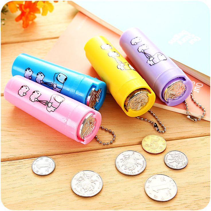 Cartoon Plastic Piggy Bank Coin Holder Portable Purse Round Tube Saving Box Kids #TuiNui