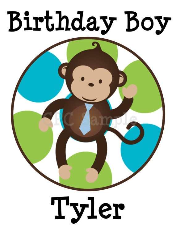 Monkey Birthday Shirt Personalized by CutiesTieDyeBoutique on Etsy, $18.00