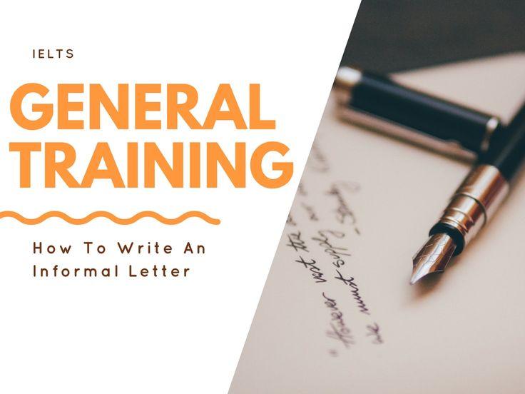 15 best IELTS General Training images on Pinterest - best of english letter writing format informal