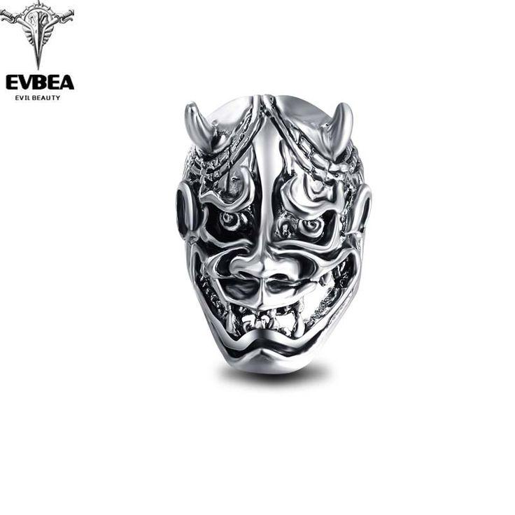 Graduation Pinky Silver Gothic Punk  Unicorn Bull Skull Big Adjustable Rotating Bikers Bible Rings Men's Jewelry