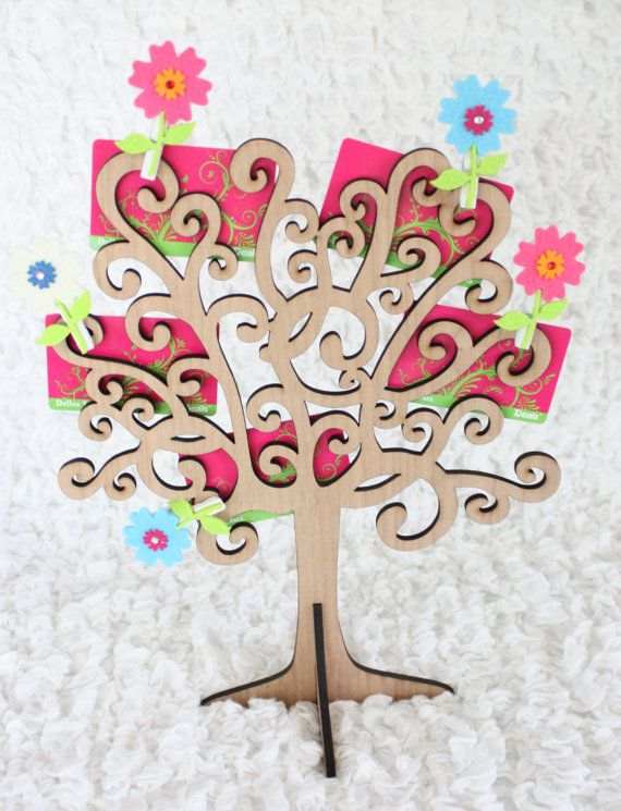 8 best gift card trees images on pinterest gift card tree gift card holder swirls wooden tree display gift cards cash jewelry pictures negle Image collections