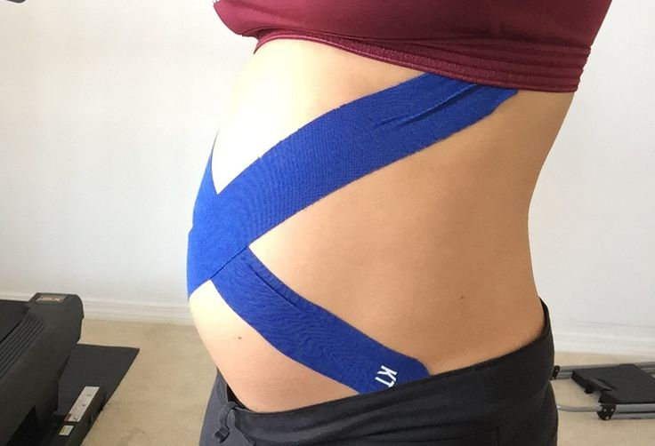 Diary of a Fit Mommy » Kinesio Taping During Pregnancy +Techniques for the Pregnant Belly