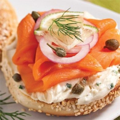 ... smoked salmon/gravlax/lox with dill, cream cheese, red onion, lemon