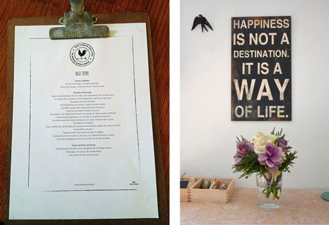 Pop-up lunch! Happiness is not a destination, it is a way of life - rules of the house <3
