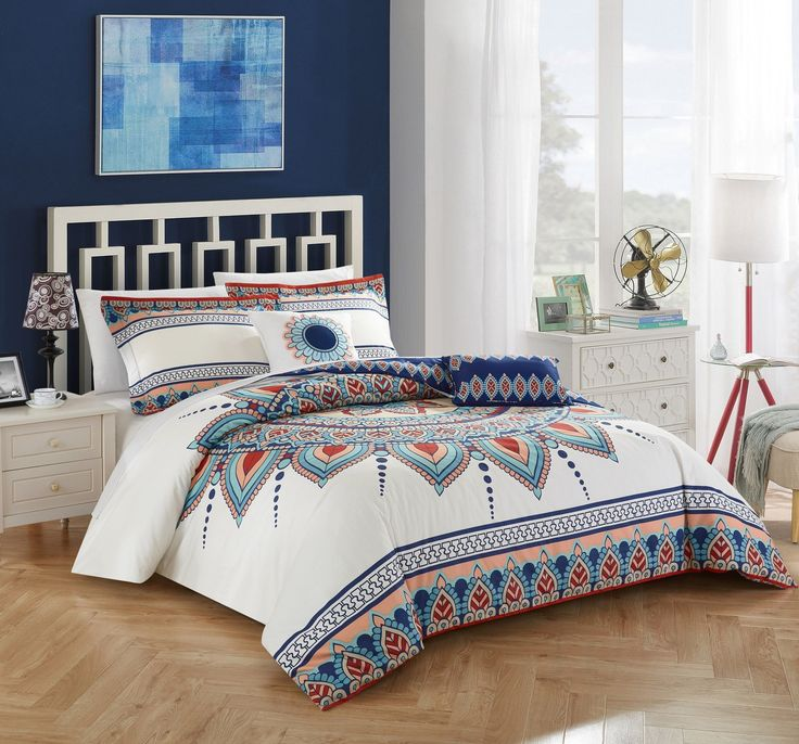 Chic Home Bethany 5 Piece 100 Cotton Comforter Set