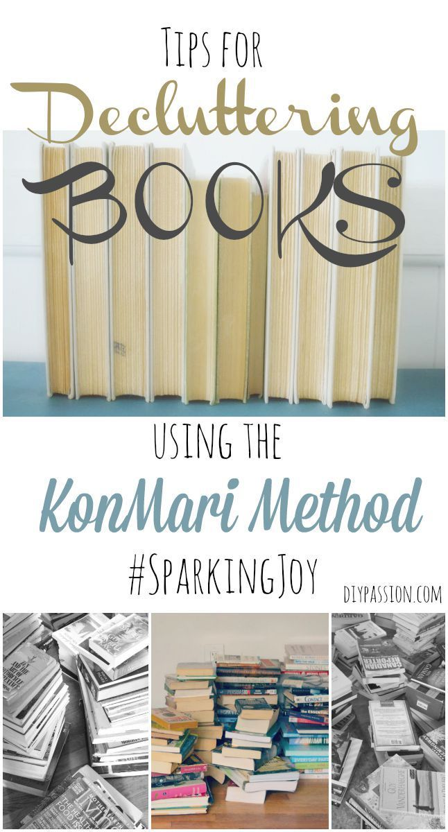 Tips for Decluttering Books using the KonMari Method - This is part 4 of an excellent 7 part series on #konmari and how it opened the couple up to pursuing new dreams.