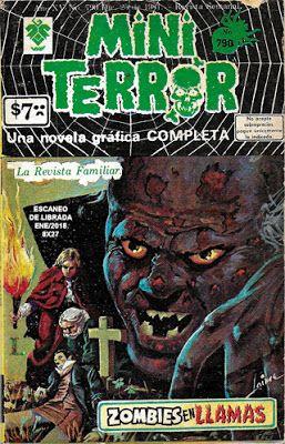 "Comics Mexicanos de Jediskater: Mini Terror No. 790, ""Zombies en Llamas"", Viernes ..."