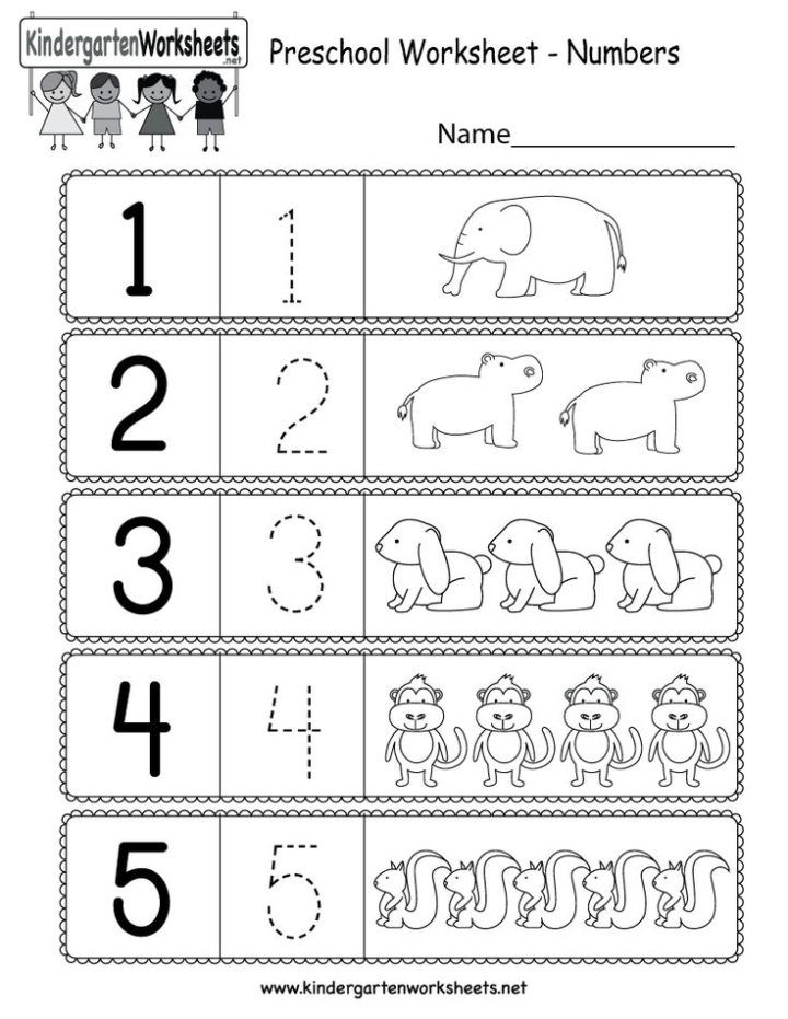 This is a preschool numbers worksheet. Kids can learn how ...