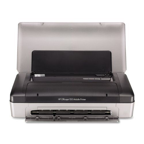 Print at your convenience while on the go, using built-in Bluetooth wireless technology Rely on a long-life, lithium ion battery-print up to 500pages when the battery is fully charged Do more-produce professional-quality documents on the go, using Original HP high-capacity ink cartridges HP Officejet 100 Wireless Inkjet Printer (CN551A#B1H)