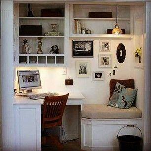 Turn it into a cozy alcove. | 23 Unexpected Ways To Transform An Unused Closet