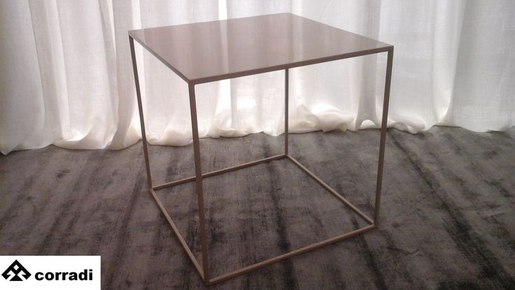 Design table By Corradi Iron varnished Cm. 50 x 50 height cm. 51 Color beige Price € 170.00 #design #table #furnishing