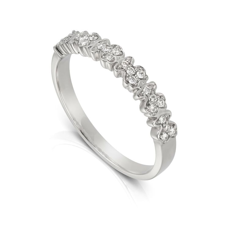 Cool kt white gold TOUS Fancy ring with diamonds Total carat weight ct