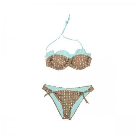 Lacrom - Kc Beachwear - Bikini Two pieces swimsuit with adjustable laces.  Balconette bikini top.