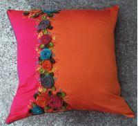Niele-Orange/Fuschia 22x22 PIllow [#2267]  : Goemdee