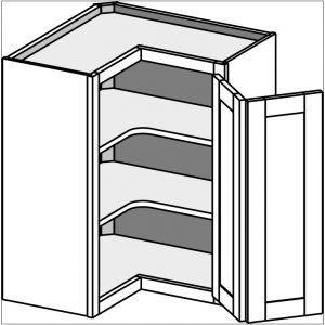 Upper Corner Kitchen Cabinet Dimensions nel 2020