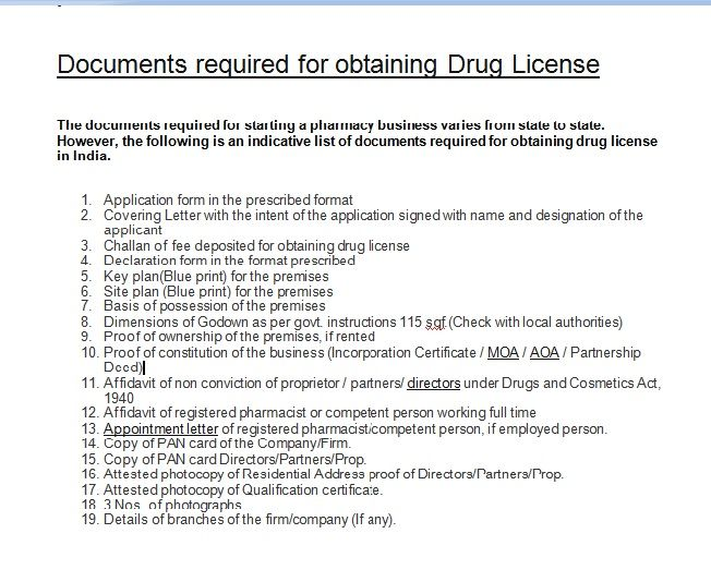 Want To Start Your Own Pharma Company Or Firm Most Important Document You Need Is Drug License Check All The Details Doc Pharma Companies Pharma Franchising