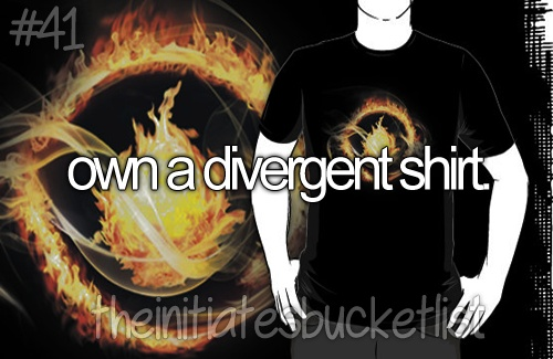 If I get this as a present from someone, I will love that person forever. <---I GOT A DAUNTLESS T-SHIRT FOR CHRISTMAS!!!
