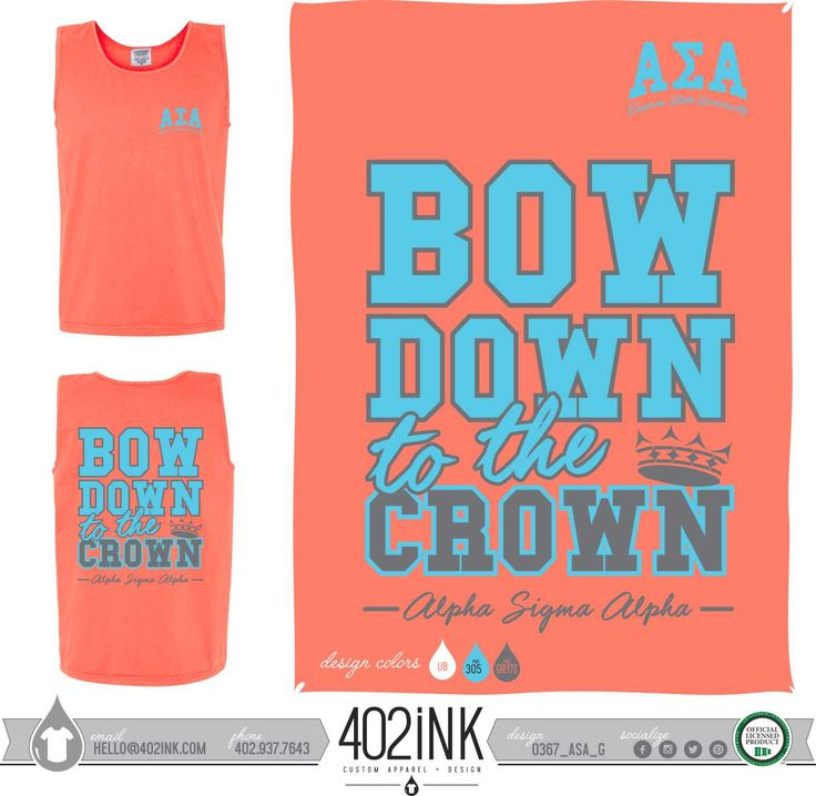 #402ink #402style 402ink, Custom Apparel, Greek T-shirts, Sorority T-shirts, Fraternity T-shirts, Greek Tanks, Custom Greek Apparel, Screen printed apparel, embroidered apparel, Sorority, ASA, Alpha Sigma Alpha