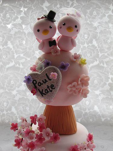 lovely birds cake topper