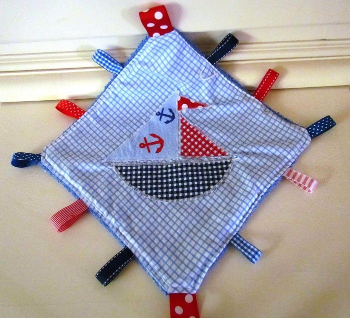 cuddle cloth baby taggie security blanket nautical | Lizzieslovelies | madeit.com.au