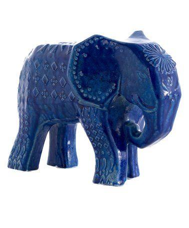 Superior Blue Elephant Décor #zulilyfinds