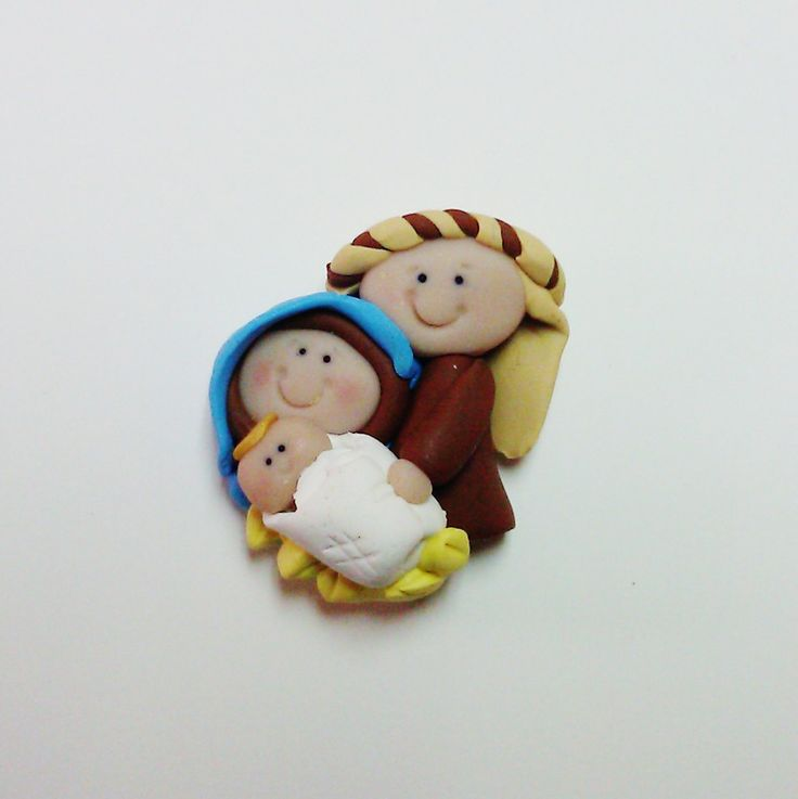 Nativity Polymer Clay Bead Christmas Jesus $5.50  Cute bow center