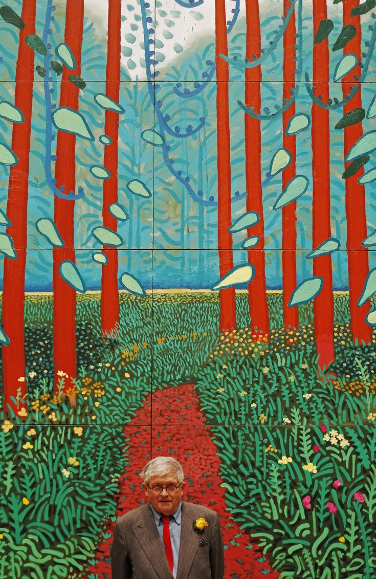 """The Arrival of Spring in Woldgate, East Yorkshire in 2011"" - David Hockney"