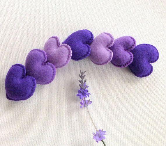 7 amant pourpre peu senti lilas coeurs - orchidée - violet - - 7 senti cœur pour quelqu'un que vous aimez. faveurs de mariage. Valentin cadeau doux