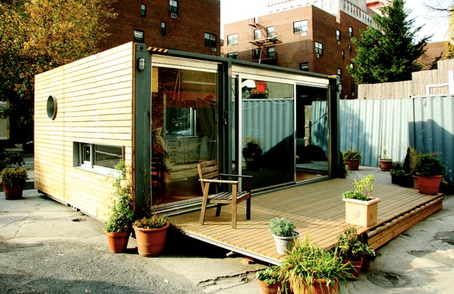 shipping container house new york