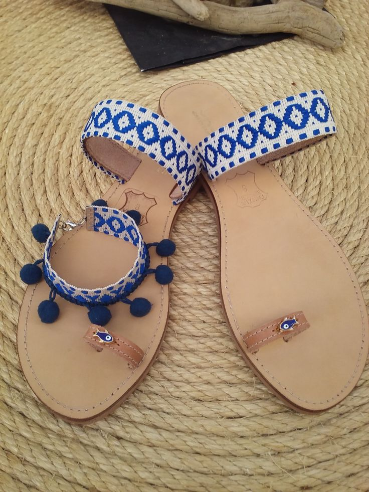 Boho style sandals Χειροποίητα δερμάτινα σανδάλια!!!