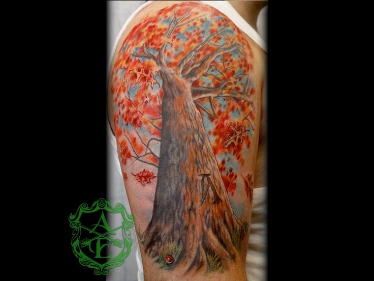 Fall tree tattoos pinterest for Fall tree tattoo