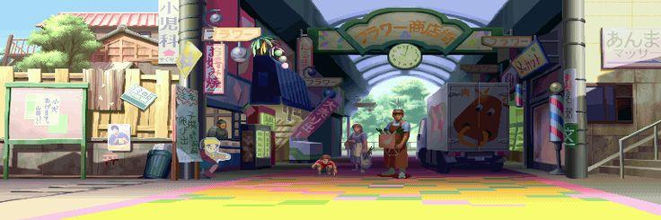 Street Fighter Alpha 3, Sakura stage.
