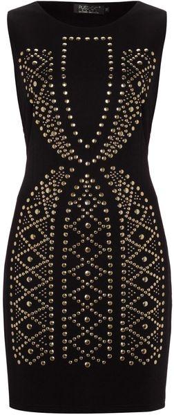 PC Stud Pattern Bodycon Dress - Lyst