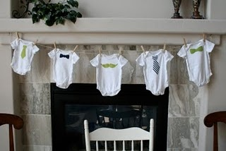 Little Man shower theme – beautifully done! Little mustaches and ties : )