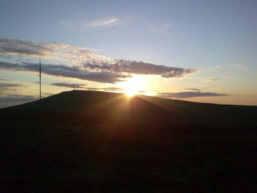 Sun set over divis mountain, belfast