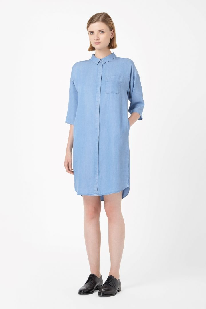 COS | Denim-look shirt dress