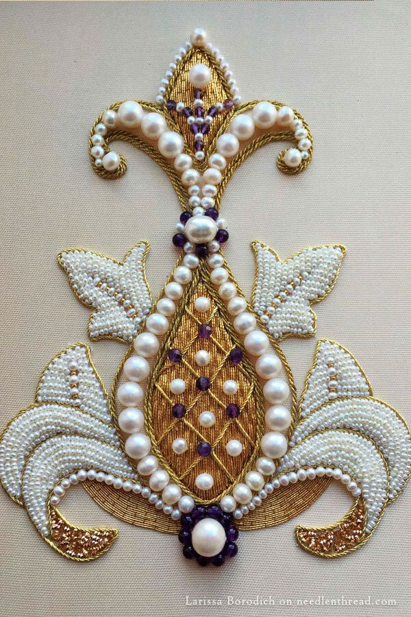 Goldwork by Larissa Borodich posted on needlenthread.com. This is a sampler.