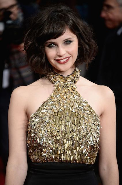Felicity Jones during The Invisible Woman Premiere in London in January 2014...