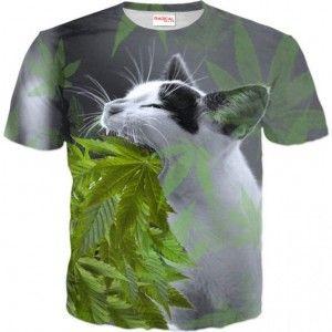 KOT GANDJA Koszulka T-Shirt Full Print 3D