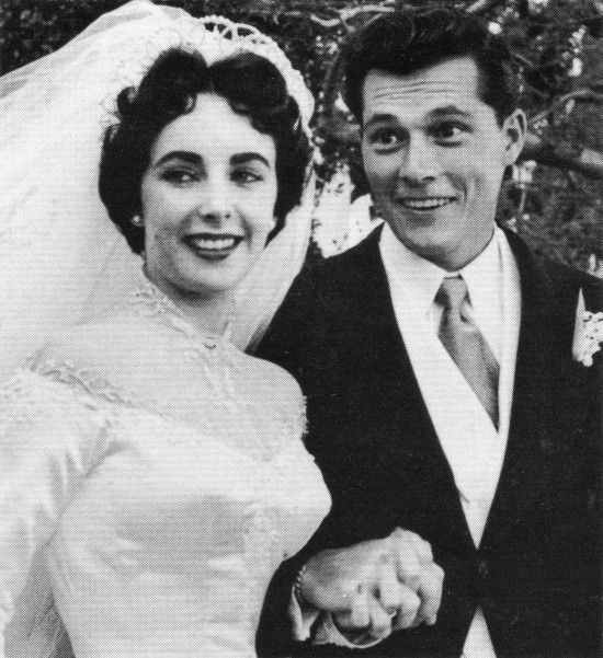 First wedding of Elizabeth Taylor, 1950.