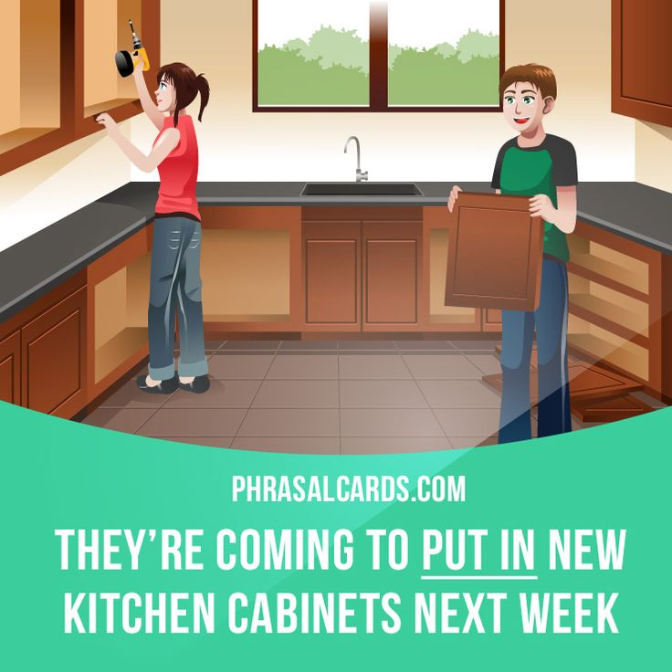 Kitchen Furniture Vocabulary: 17 Best Images About Phrasal Verbs On Pinterest