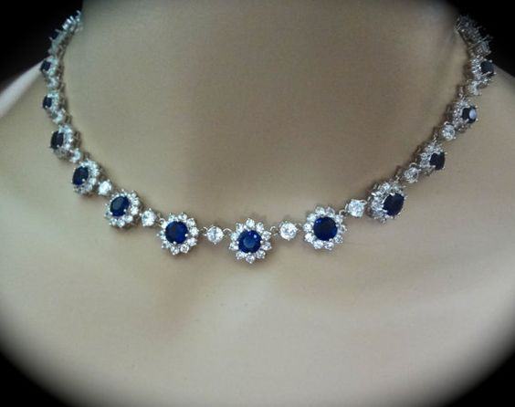 best 25 sapphire necklace ideas on pinterest. Black Bedroom Furniture Sets. Home Design Ideas