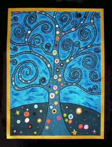 Gustav Klimt Representational | Peinture Tree of life                                                                                                                                                                                 Plus